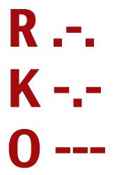 RKO morse code