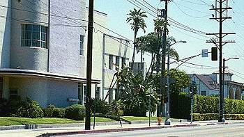 5515 Melrose Avenue in Hollywood -- historic location of KHJ