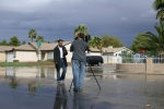 Flash floods generate local TV coverage in Las Vegas.