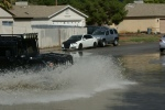 Adults should know flood water damages vehicles.