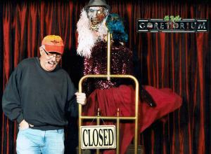 Woody Goulart photographed in 2012 at Eli Roth's Goretorium, Las Vegas