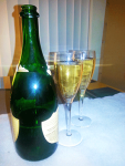 Champagne for Sam and Woody in San Francisco, December 31, 2013