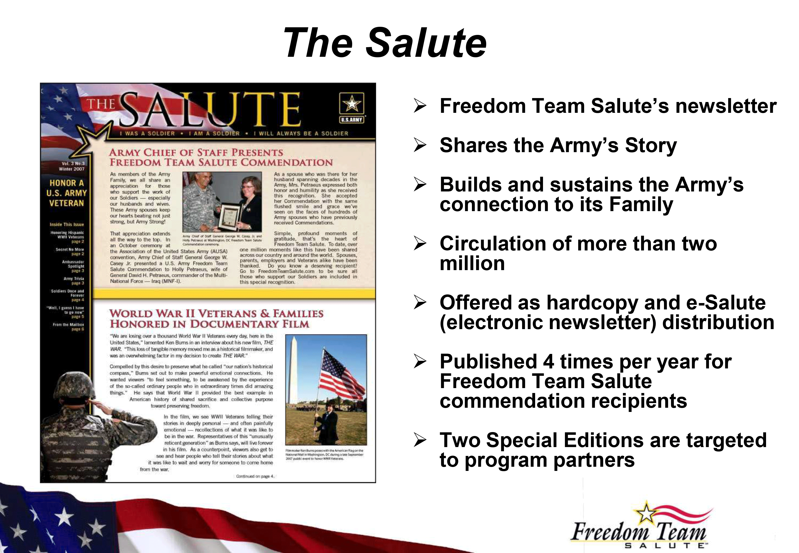 (image) €� Showing My Work As Managing Editor For The United States Army  Newsletter (print And Electronic) Known As The Salute