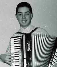 innocent accordion player at age 14