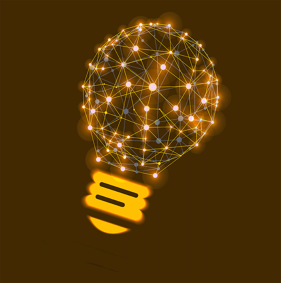 light bulb stylized