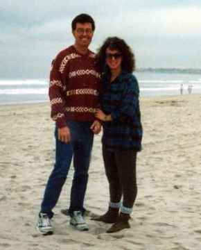 age 43 with my sister Dianna at the Pacific Ocean